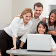 Stock Photo: Business group with computer