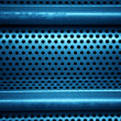 Blue metal grid — Foto Stock