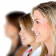 Females in a row — Stock Photo