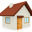 Stock Photo: 3D Tiled roof house