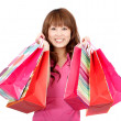 Asian shopping woman — Stock Photo