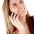 Woman on the phone — Stock Photo #7771323