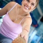 Gym woman stretching — Stock Photo #7771349