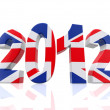 3D Year 2012 in Great Britain - 图库照片
