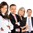Business group smiling — Stock Photo #7771390