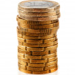 Stock Photo: Pile of euro coins