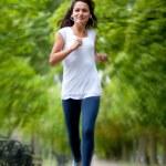 Woman jogging — Stock Photo