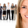 Woman leading a business team — Stock Photo #7771478