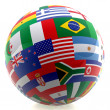 Football with world flags — Stock Photo #7771492
