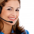 Woman with a headset — Stock Photo #7771500