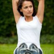 Woman exercising outdoors — Stock Photo