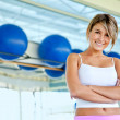 Gym woman - portrait — Stock Photo