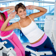 Women at the gym exercising — Stock Photo #7771519
