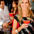 Woman in a bar — Stock Photo #7771535