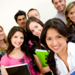 Group of university students — Stock Photo
