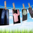 Clothes to dry - 图库照片