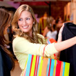 Stock Photo: Beautiful women shopping