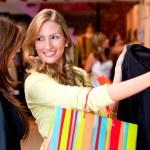 krásné ženy, nakupování — Stock fotografie