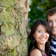 Beautiful couple outdoors — Stock Photo #7771591