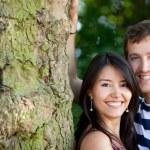Beautiful couple outdoors — Stock Photo