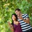 Beautiful couple outdoors — Stock Photo #7771592