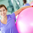 Woman with a pilates ball — Stock Photo #7771599
