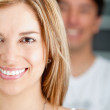 Couple smiling — Stock Photo