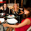 Friends having dinner — Stock Photo #7771645
