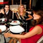 Friends having dinner — Stock Photo
