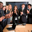 Business team applauding — Stock Photo #7771659