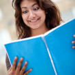 Woman with a notebook — Stock Photo #7771702