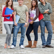 Group of students outdoors — Stock Photo #7771720