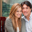 Beautiful couple smiling — Stock Photo #7771742
