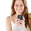 Woman texting on her mobile — Stock Photo #7771752