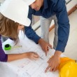 Architects at construction site — Stock Photo #7771757