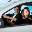 Royalty-Free Stock Photo: Couple in a car