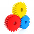 Colorful cogwheels — Stockfoto