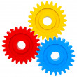 Colorful cogwheels - Stock Photo