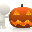 Stock Photo: Mwith Halloween pumpkin