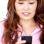 Woman sending a text — Stock Photo