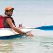 Stock Photo: Man in a kayak