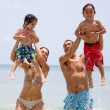 Family on holidays - Foto Stock