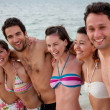 Friends at the beach — Stock Photo #7771975