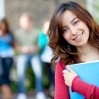 Female student outdoors — Stock Photo #7771985