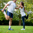 Woman and her sports trainer — Foto de Stock