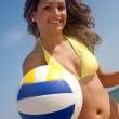 Beach volleyball player — Stock Photo