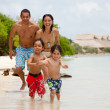 Family on holidays — Stock Photo #7772035