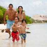 Family on holidays — Stock Photo