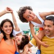 Family on vacations — Foto Stock
