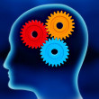 Human brain working — Stockfoto